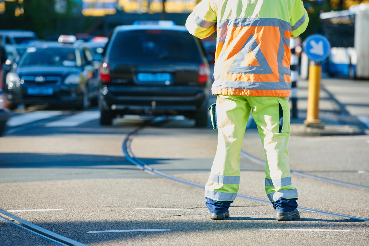 Verkeerregelaars infrahands